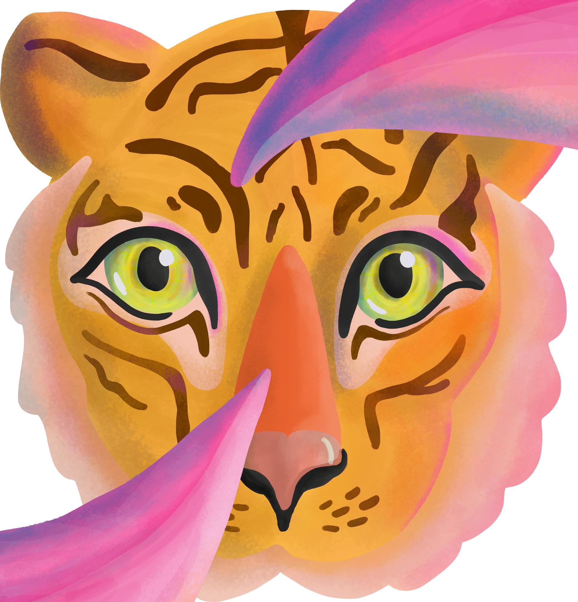 Tiger Head Spot Illustration