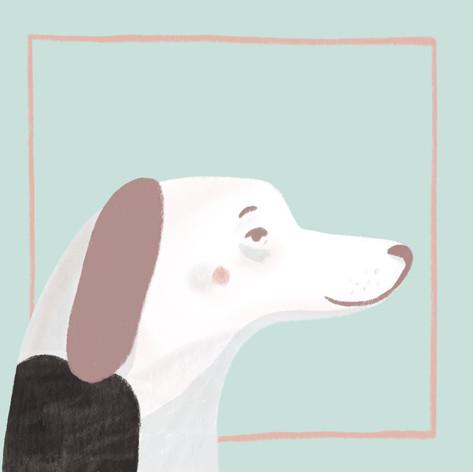 Dog Smug Portrait