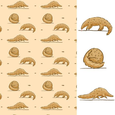 Ground Pangolin Pattern