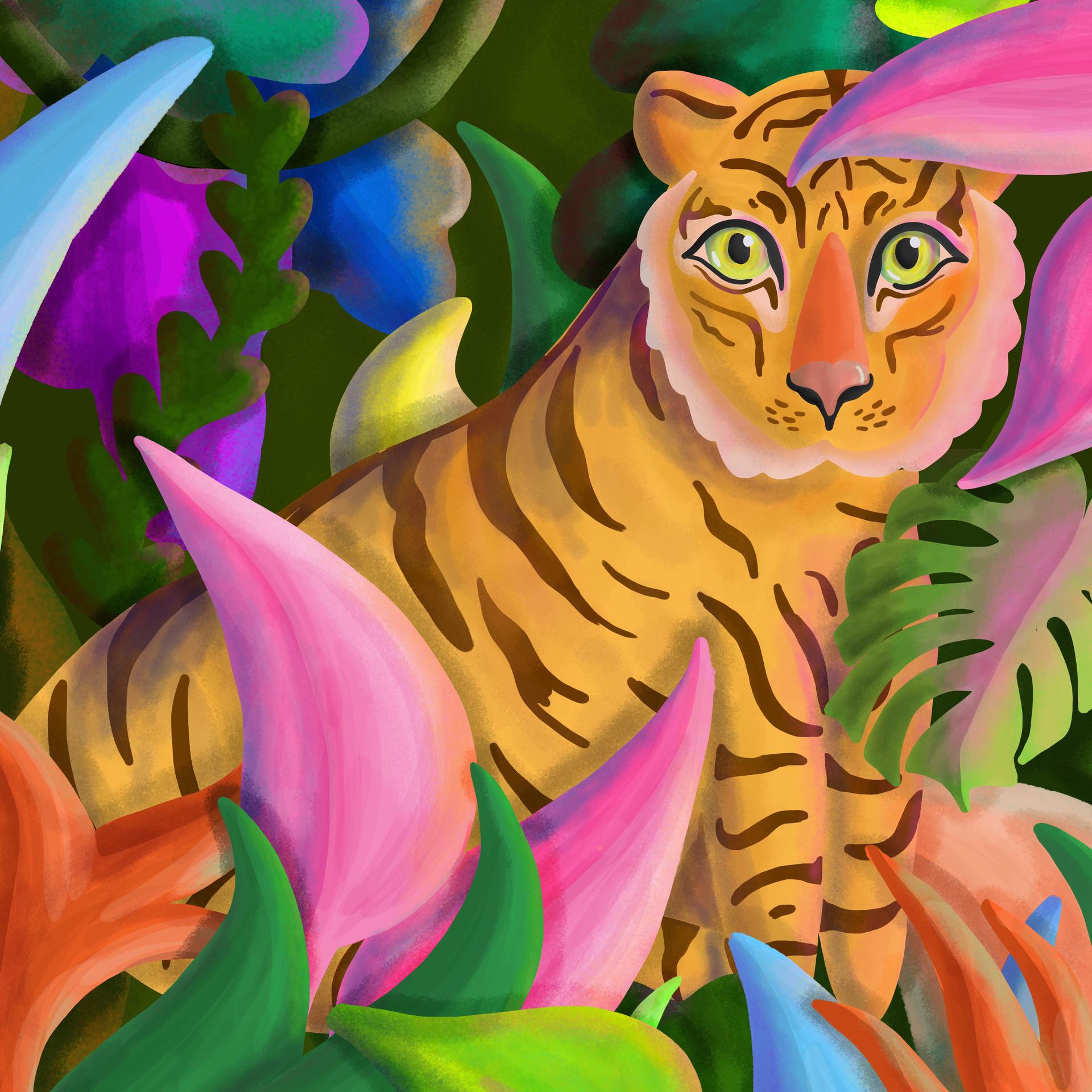 Tiger Mural Crop