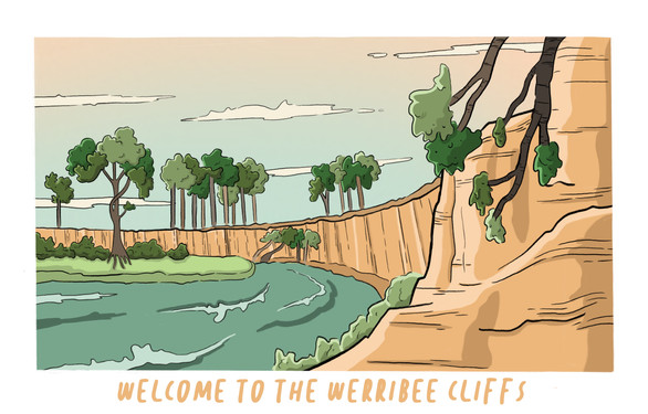 Werribee Cliffs Scene