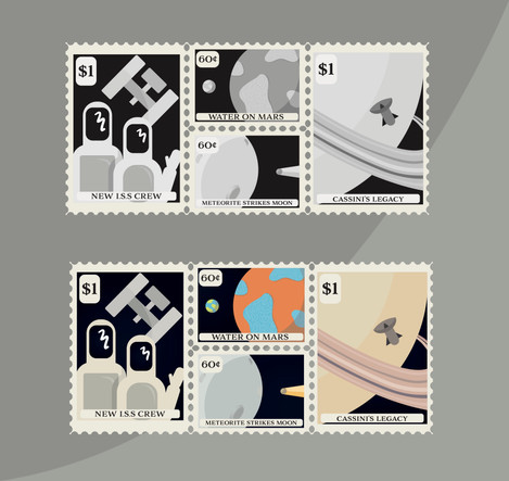 Space Stamp Designs