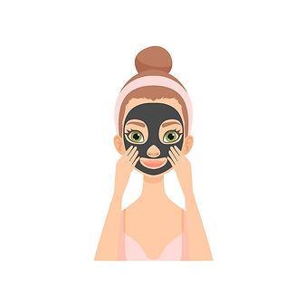 young-woman-applying-charcoal-mask-girl-