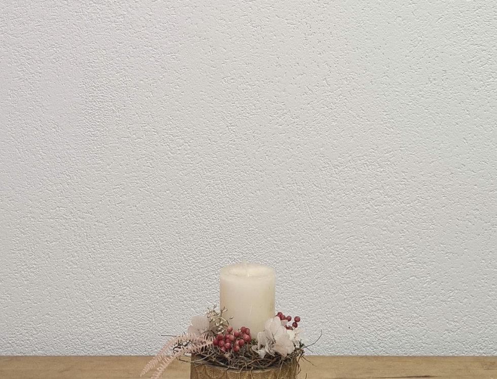 Kerzengesteck Milky