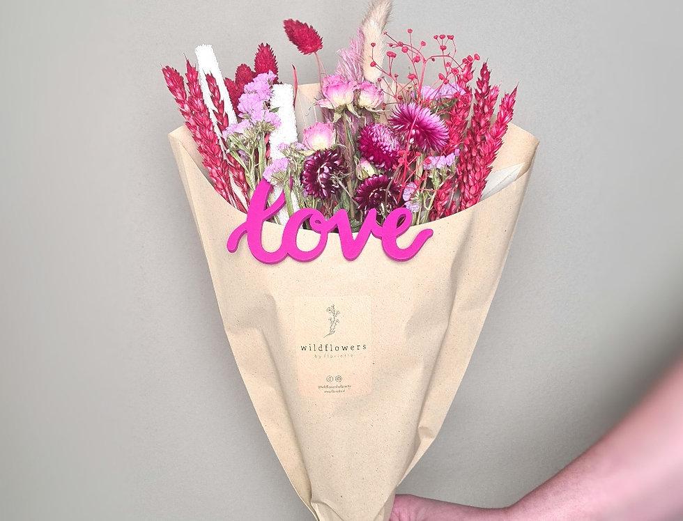 Trockenblumen Strauß LOVE
