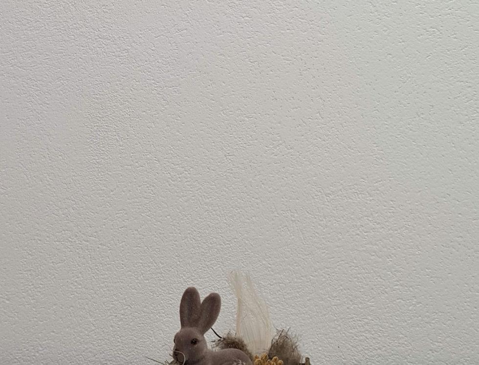 Osterdeko Boho mit Hase