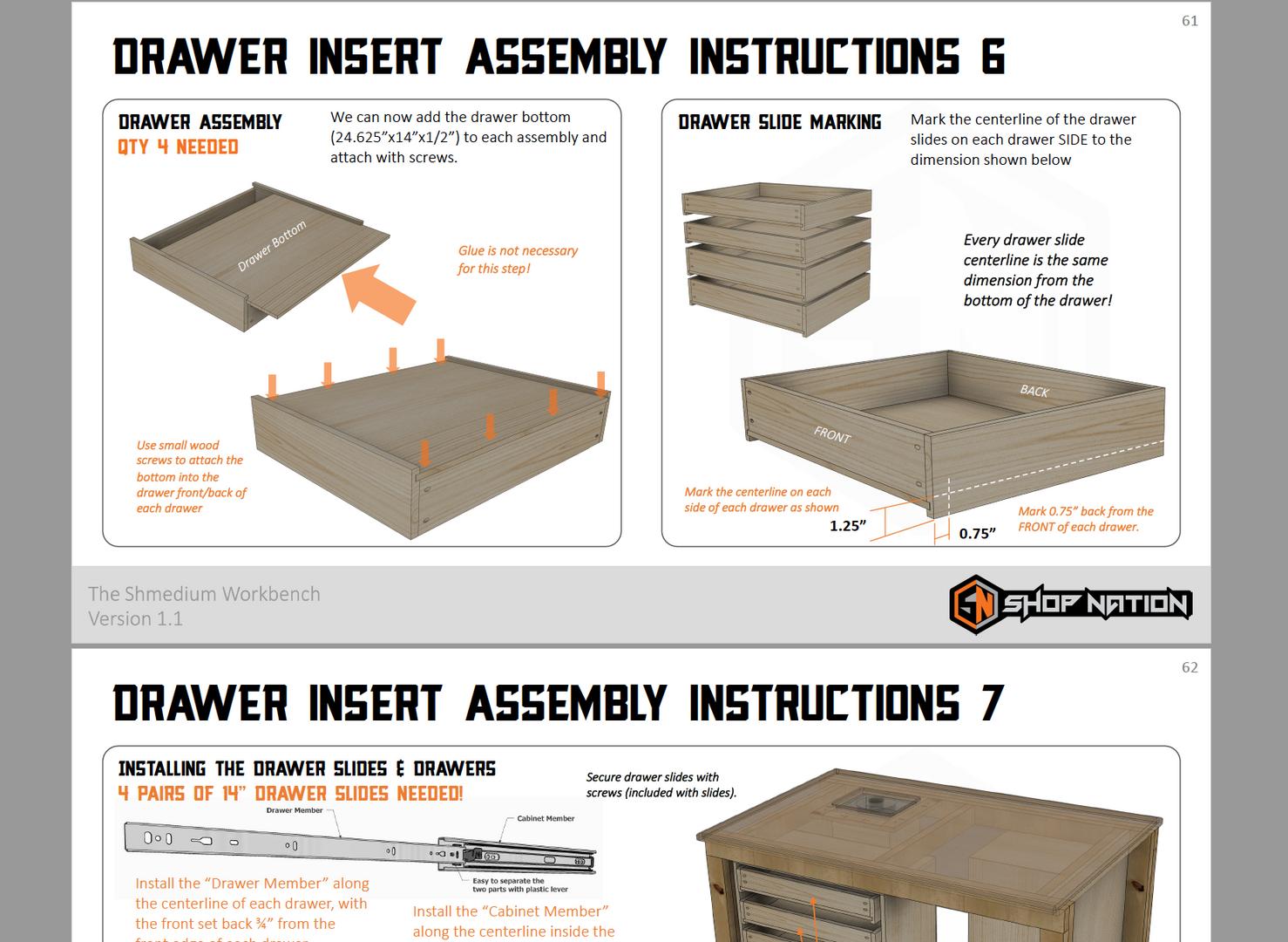 Shmedium Plans Drawer Assembly