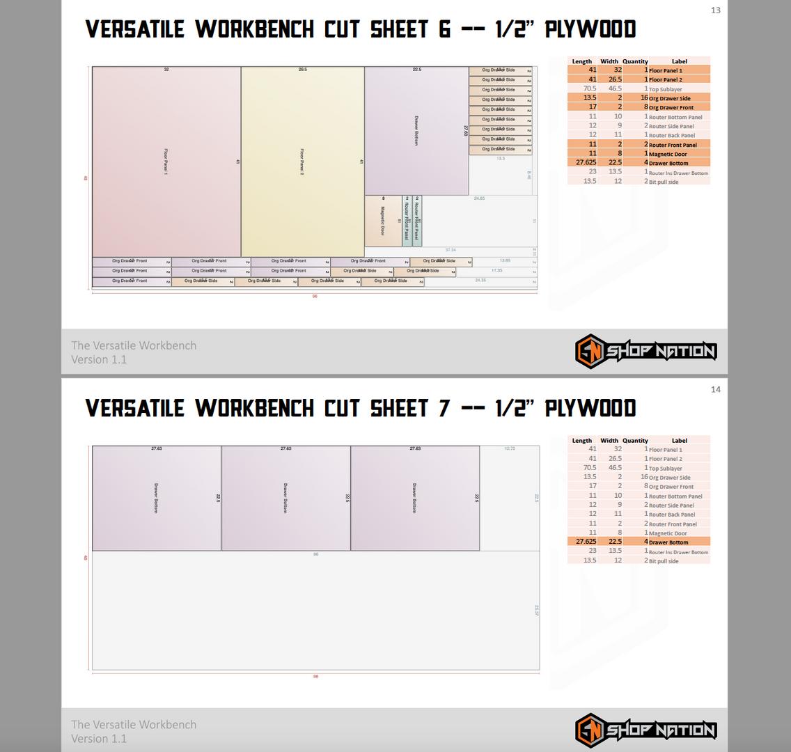 Plans Cut Sheet Example