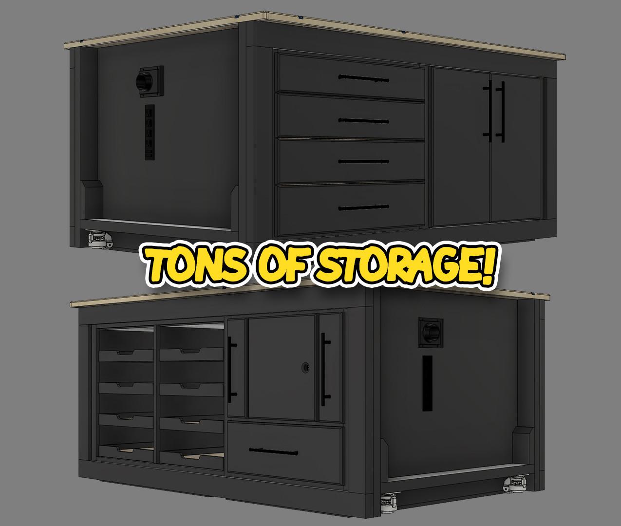 Versatile Workbench Storage