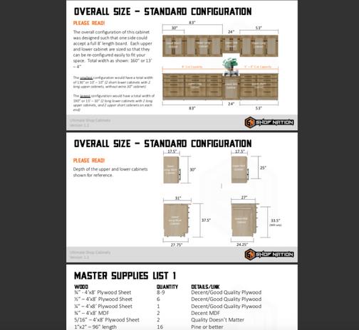Shop Cabinets Plans 1