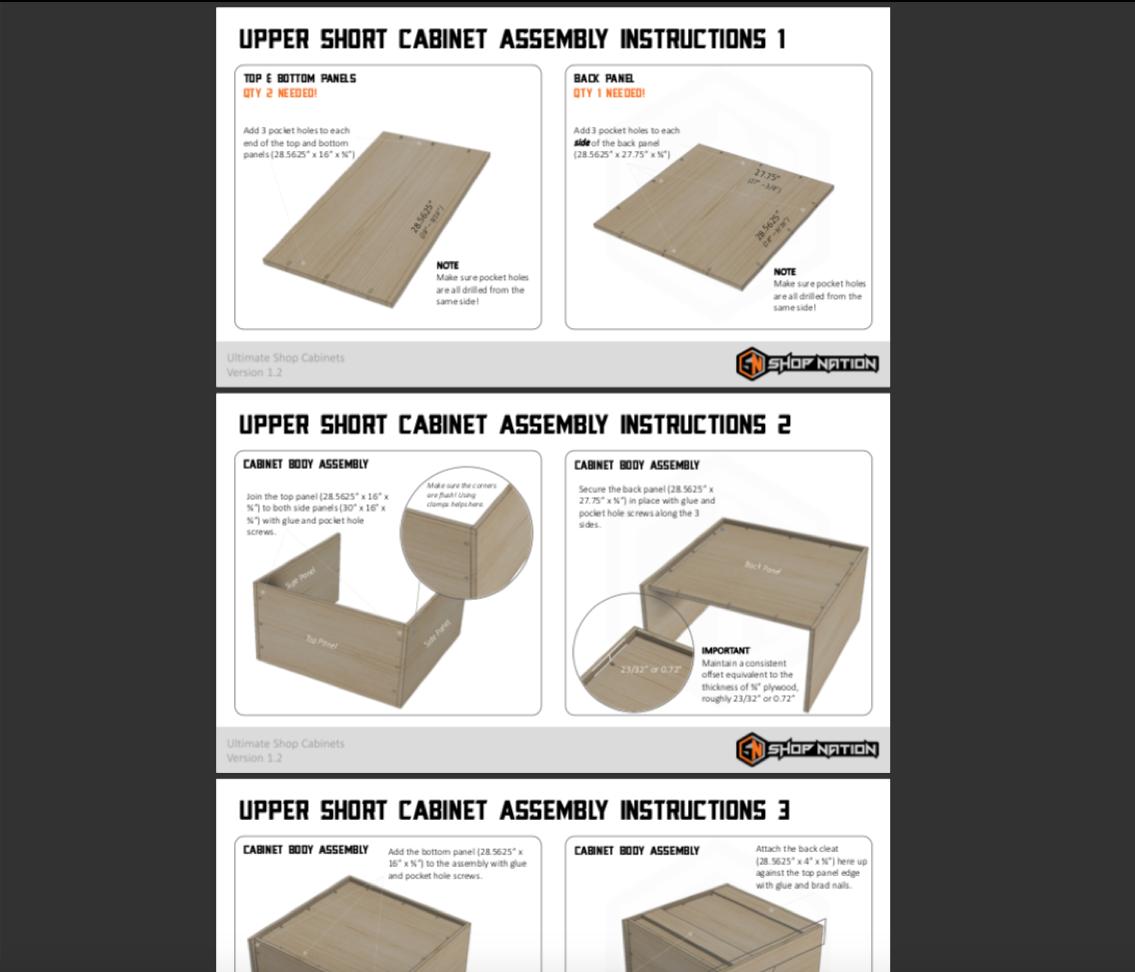 Shop Cabinets Plans 4