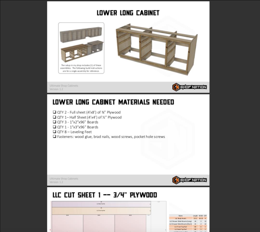 Shop Cabinets Plans 3