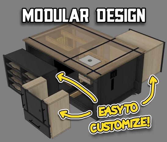Versatile Workbench Modual Design
