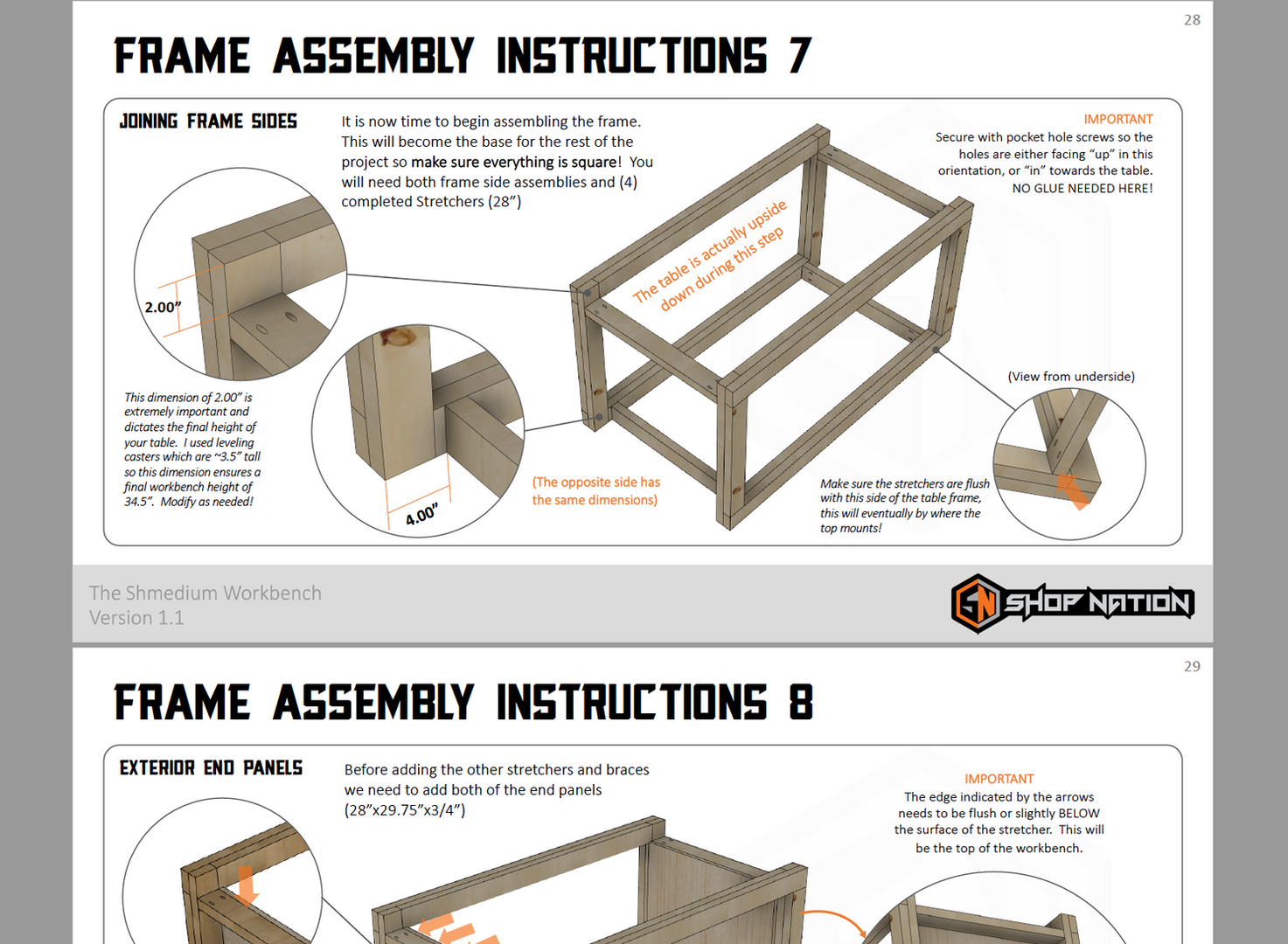 Shmedium Plans Frame Assembly