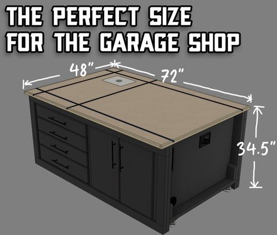 Versatile Workbench Size