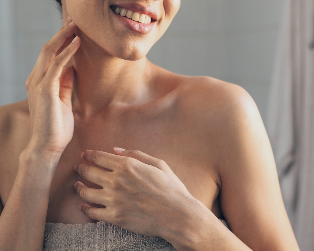 Signs of aging skin on your neck usually happen sooner than on other areas on your face.