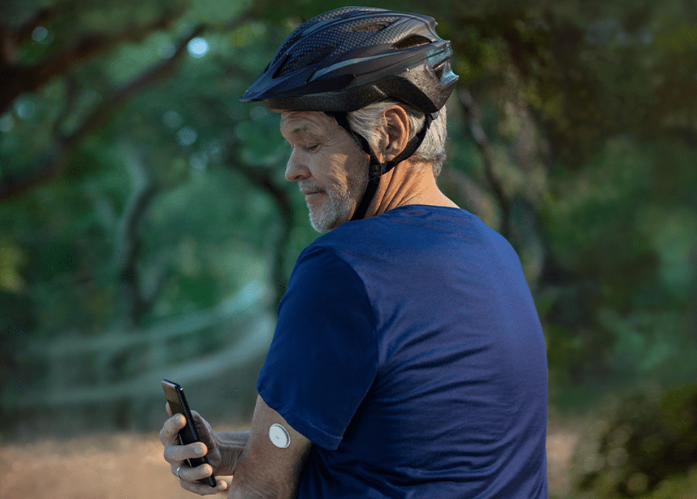 A Continuous Glucose Monitor (CGM) is a quick and easy way to track your glucose levels at any time.