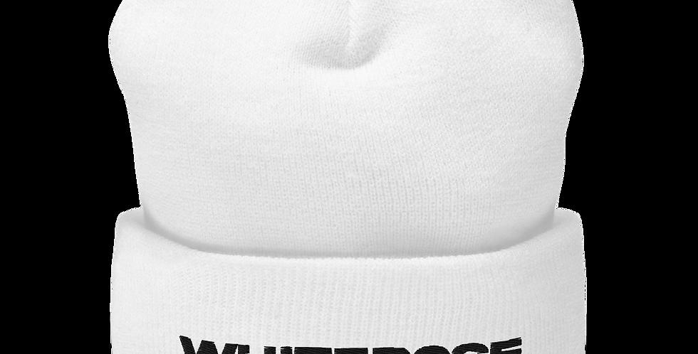 WHITE WHITEROSE. BEANIE