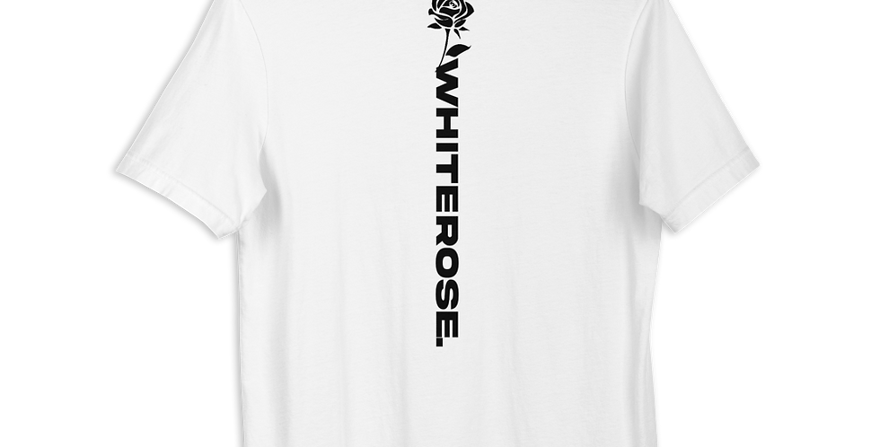 WHITE WHITEROSE BACK T-SHIRT