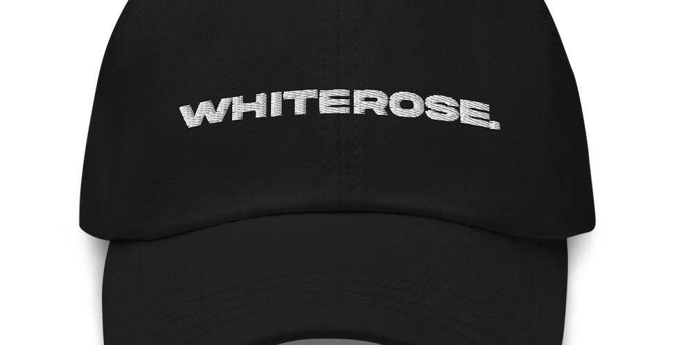 BLACK WHITEROSE. HAT