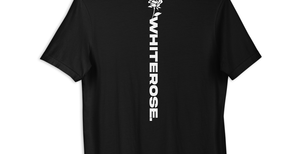 BLACK WHITEROSE. BACK T-SHIRT