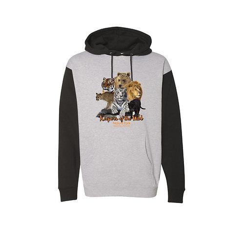 Men's Grey/Black Logo Hoodie