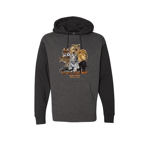 Men's Charcoal/Black Logo Hoodie