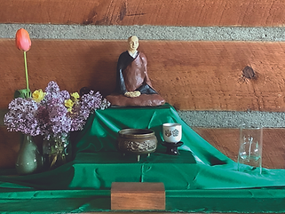 Randal Pride - altar w green cloth oil-p