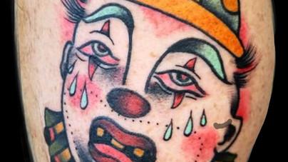 Camille Natural Canvas Tattoo Clown.jpg