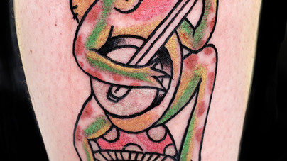 Camille Natural Canvas Tattoo Banjo Frog.jpg