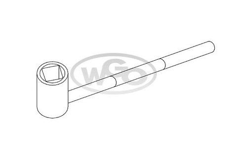 Chave cachimbo quadrada p/ parafuso 6mm (Cod. 1612)