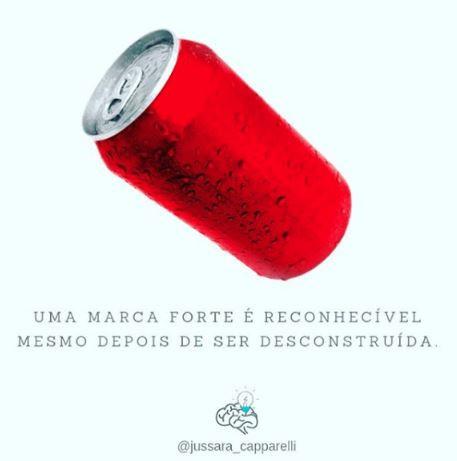 Branding - Outsize.com.br - Lata de refrigerante vermelha, uma marca forte é reconhecida mesmo depois de ser desconstruída