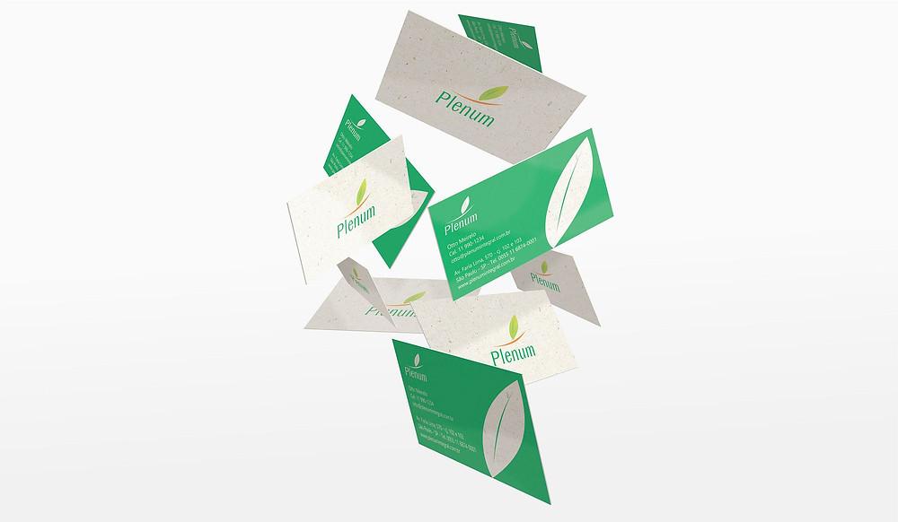 Cartões de visita flutuando - Brand design - case - Outsize.com.br