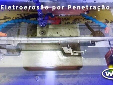ELETROEROSÃO DE PENETRAÇÃO na confecção de matriz p/ estampo de corte, molde termoplástico, MD, ...