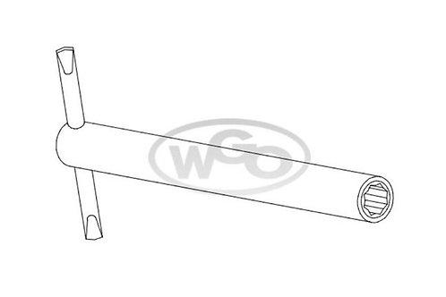 Chave cachimbo longa oitavada p/ parafuso 6mm (Cod. 1615)