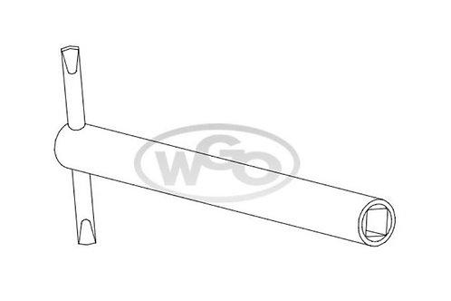 Chave cachimbo longa quadrada p/ parafuso 6mm (Cod. 1614)