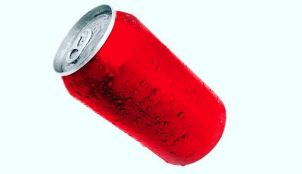Lata vermelha grande marca de refrigerante brand  exemplo Outsize.com.br veja matéria!