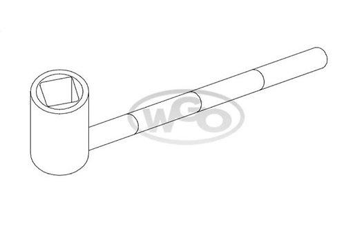 Chave cachimbo quadrada p/ parafuso 8mm p/ A-15 e A-25 (Cod. 1618)