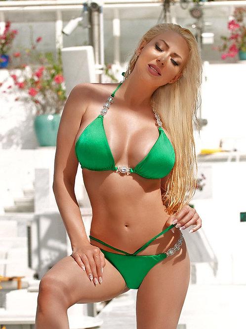 Shanel Triangle Top & Strappy Tango Bottom - Green