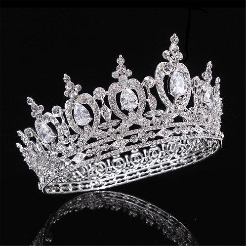 Tiara kroon met strass bruidstiara