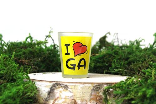 I Heart GA Shot Glass