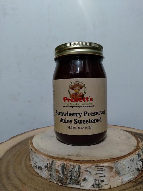 Strawberry Preserves Juice Sweetened