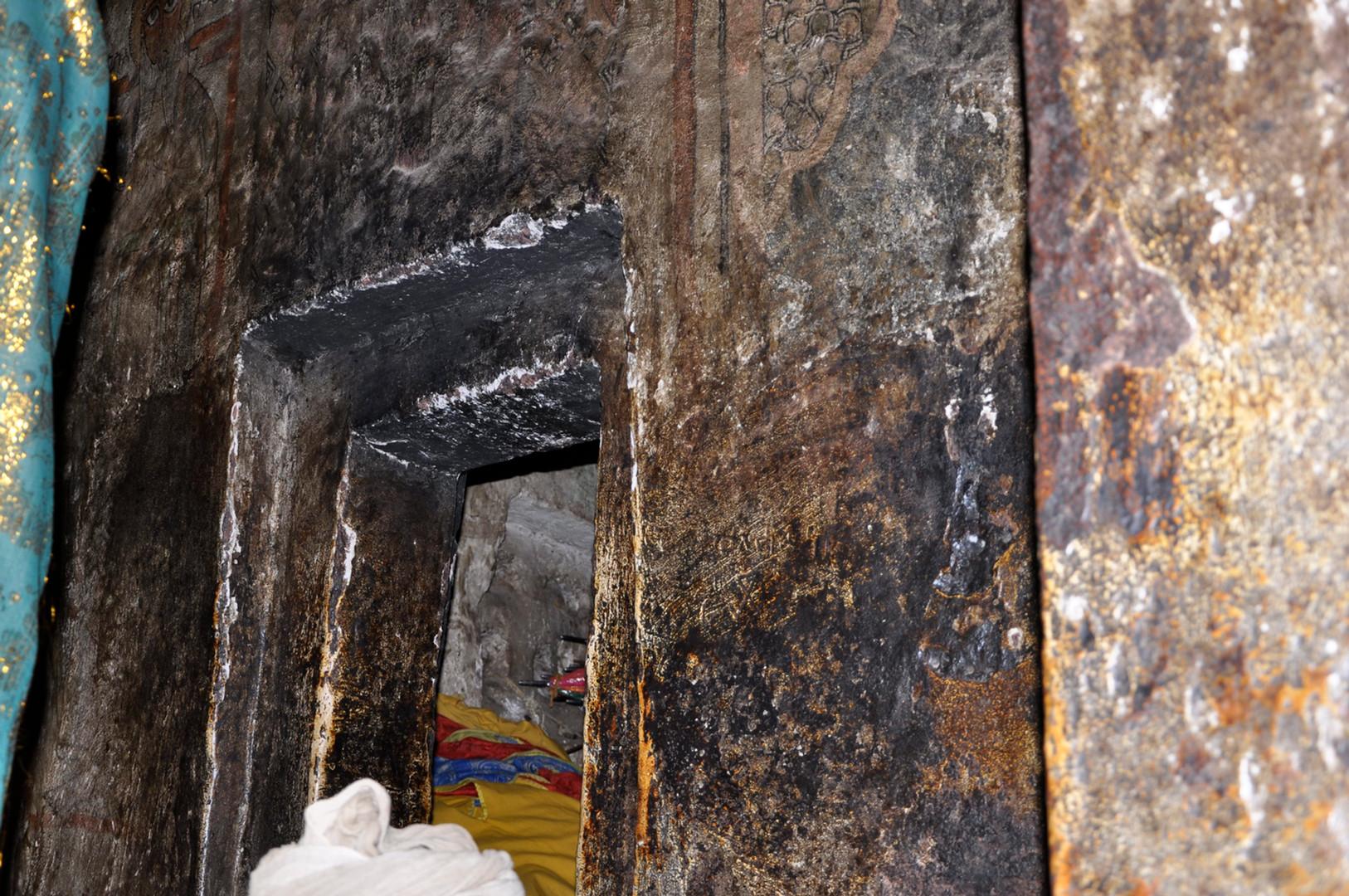 Candle-smoke damage in the sanctuary at Gännätä Maryam
