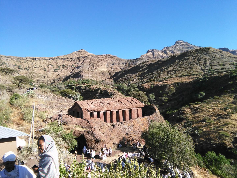 Gännätä Maryam church on a feast day