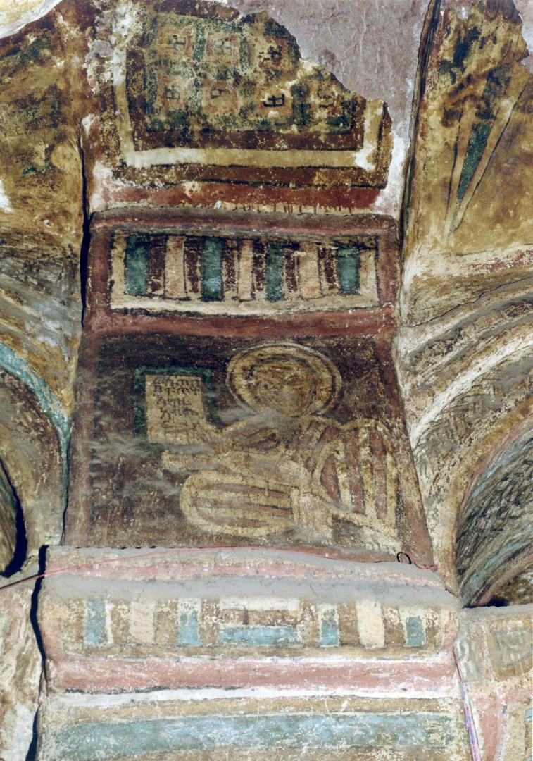 Ǝgziabǝḥer (God), wall painting in Bǝlbäla Č̣ärqos church