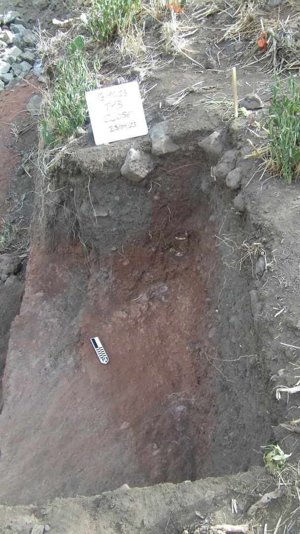 Test pit 3 dug during rescue archaeology at Gännätä Maryam in 2013