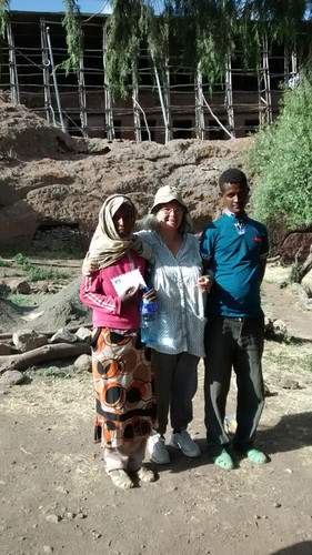 Tania with local assistants Tringo and Mesfin, Gännätä Maryam, 2014