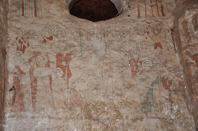 Wall-painting of Christ entering Jerusalem, Gännätä Maryam church