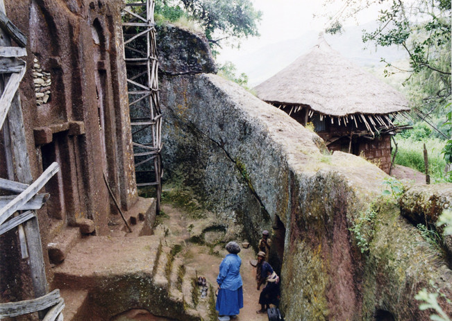 The main entrance to the rock-hewn church, 2000