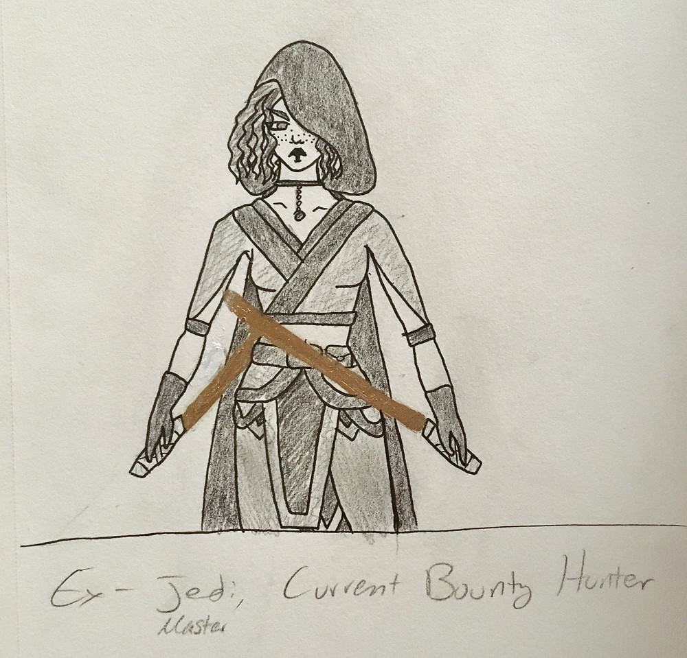 This is The Warden! She is an Ex-Jedi, now Bounty Hunter!